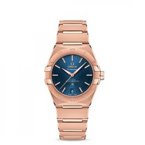 Omega Rose gold Automatic Blue 36mm new Constellation