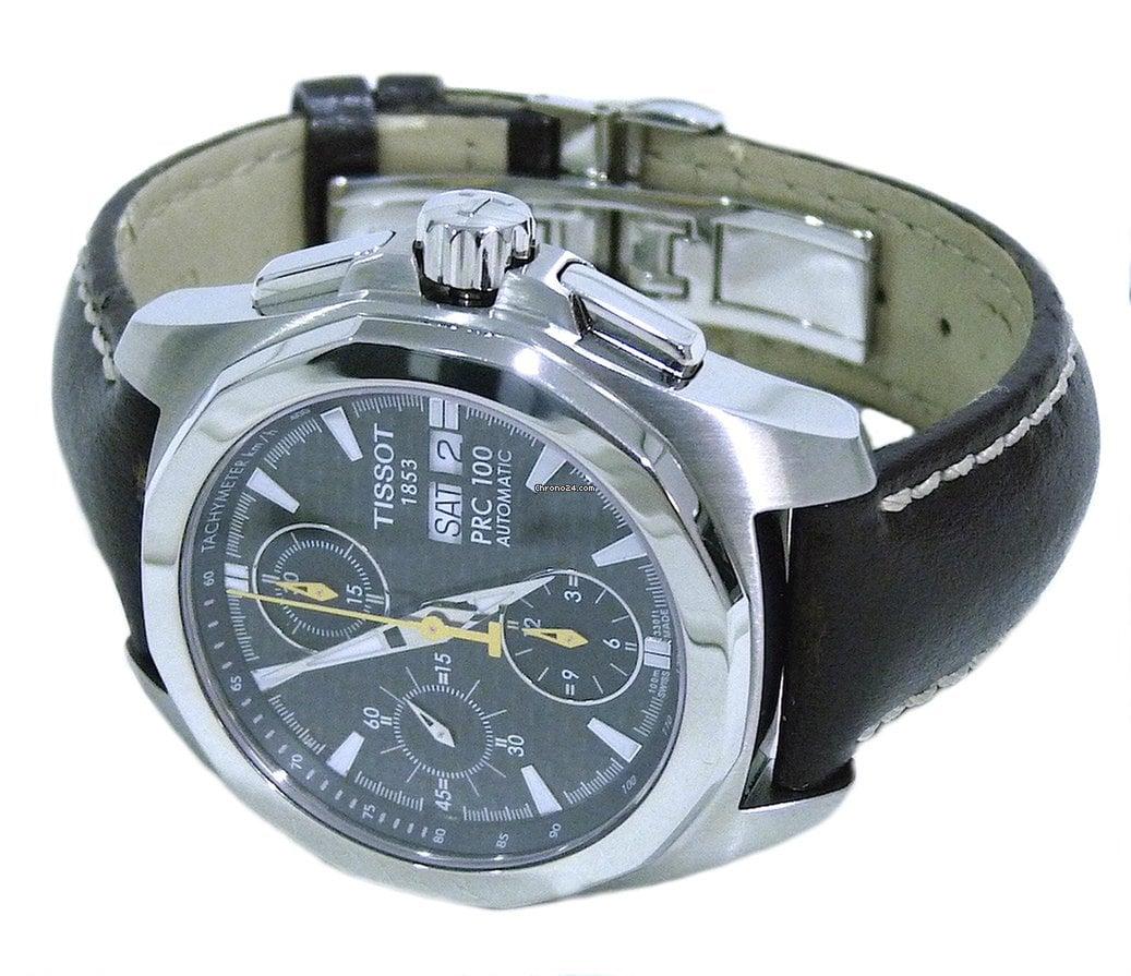 in vendita 510c3 82db3 Tissot PRC 100 Automatic Chronograph Carbon Fibre Dial Mens Watch