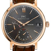IWC Rose gold Manual winding Grey 45mm new Portofino Hand-Wound