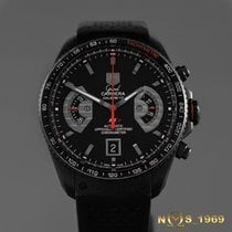TAG Heuer Titanium Automatic Black No numerals case 43 mmmm pre-owned Grand Carrera