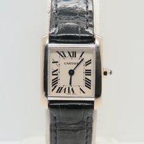 Cartier Tank Française 18k White Gold Ref: 2403 Lady