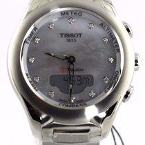 Tissot T-touch T075.220.11.106.00 Digital Pearl Diamond Ladies...