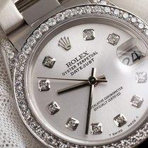 Rolex Datejust 31mm Oyster Silver Diamond Dial/Bezel/Lugs 68274