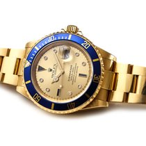 Rolex Submariner Date Or jaune 40mm Bleu Sans chiffres France, Paris/France/Europe/Monde