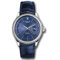 Rolex Cellini Date Fehérarany 39mm Kék