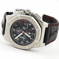 Audemars Piguet Steel Automatic Black Arabic numerals 48mm pre-owned Royal Oak Offshore Chronograph