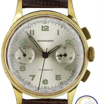 Wakmann Chronograph 37mm Manual winding pre-owned Silver