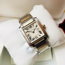 Cartier Tank Française Gold/Steel 25mm White Roman numerals