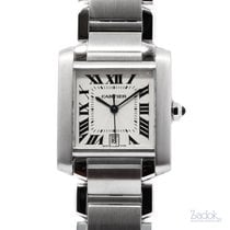 Cartier Tank Française pre-owned 32mm Steel