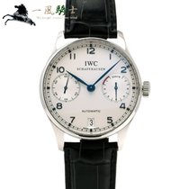 IWC Steel Automatic Silver 42mm pre-owned Portuguese Automatic