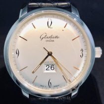 Glashütte Original Sixties Panorama Date Acier 42mm Argent Arabes