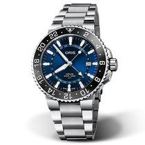 Oris Aquis GMT Date Steel 43.5mm Blue