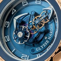 Ulysse Nardin Freak Cruiser Pозовое золото 45mm Синий Aрабские