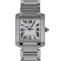 935b917e525a0 Cartier 2302 Steel Tank Française 28mm pre-owned United States of America