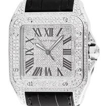 カルティエ (Cartier) Cartier Santos 100 Large Diamond Set W20073X8