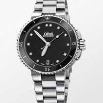 Oris Aquis Date Steel 36mm Black No numerals