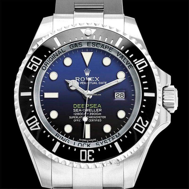 Rolex Deepsea Sea,Dweller Stainless Steel Automatic Deep Blue Dial