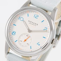 NOMOS Club Neomatik Steel 37mm Silver Arabic numerals