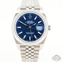 Rolex Datejust 41   Blue Index Dial   Jubilee Steel   126300