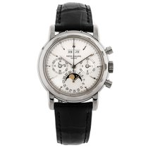 Patek Philippe Perpetual Calendar Chronograph pre-owned 36mm White gold
