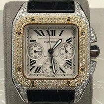 Cartier Santos 100 Gold/Steel 42mm Silver Roman numerals UAE, Dubai