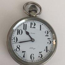 Eterna Vintage Eterna Golliath Huge Pocket Watch Clok 8 Day...