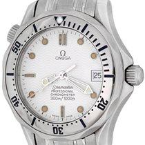 Omega Seamaster Diver 300 M Acier 36mm Blanc Sans chiffres