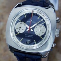 Wittnauer Chronograph 40mm Manual winding 1970 pre-owned Blue