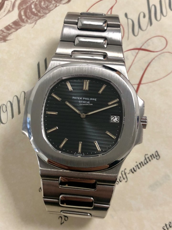8cf7825e462 Patek Philippe Nautilus Jumbo 3700A Fat Links With Extract And... for Php  5
