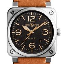 Bell & Ross BR 03-92 Steel nuevo Automático Reloj con estuche y documentos originales BR0392-ST-G-HE/SCA