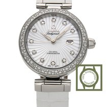 Omega De Ville Ladymatic Co-Axial 34 mm Steel White Diamond...