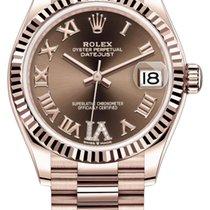Rolex Datejust Ubrugt Rosa guld 31mm Automatisk