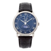 Blancpain Villeret Quantième Complet pre-owned 40mm Blue Moon phase Date Month Crocodile skin