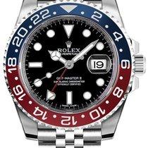 Rolex GMT-Master II Ατσάλι 40mm Μαύρο Xωρίς ψηφία