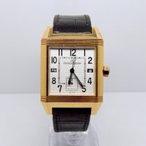 Jaeger-LeCoultre Rose gold Automatic White Arabic numerals pre-owned Reverso Squadra Hometime