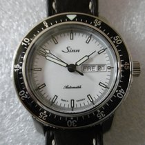 Sinn 104 Acier 41mm Blanc Sans chiffres