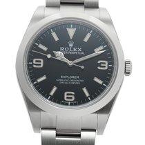 Rolex Explorer Stahl 39mm Schwarz Arabisch