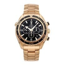 Omega Seamaster Planet Ocean Chronograph Rose gold 45.5mm Black Arabic numerals
