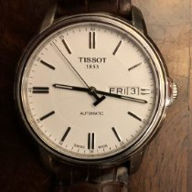 Tissot T-Classic pre-owned 39mm White Date Leather