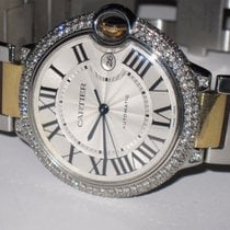 Cartier Ballon Bleu XL 18K Gold Automatic Diamonds
