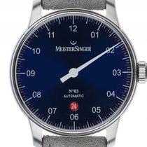 Meistersinger No.3 Einzeigeruhr Stahl Automatik Armband Leder...