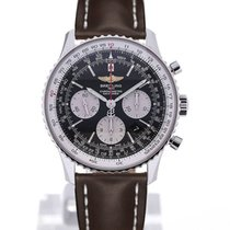 Breitling Navitimer 01 43 Brown Leather Strap Buckle