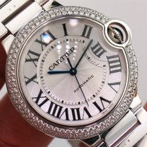 Cartier Ballon Bleu WE9006Z3 18K White Gold Factory Diamond...