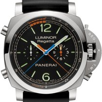 Panerai Luminor 1950 Regatta 3 Days Chrono Flyback Tytan 47mm Czarny Arabskie