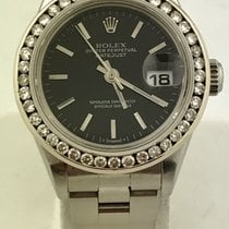 Rolex Oyster Perpetual Lady Date Diamond Bezel Oyster Band