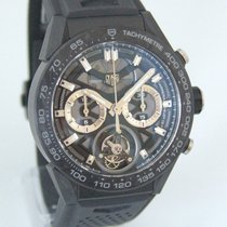 TAG Heuer Titanium Automatic Black 49mm new Carrera Heuer-02T