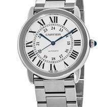 Cartier Steel Automatic Silver Roman numerals 36mm new Ronde Croisière de Cartier