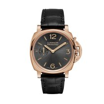 Panerai Oro rosado Cuerda manual Negro 42mm nuevo Luminor Due