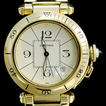 Cartier Pasha Seatimer Geelgoud 38mm Champagne Arabisch