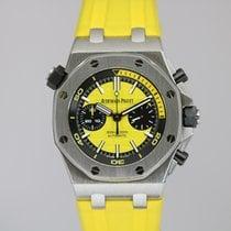 Audemars Piguet Royal Oak Offshore Diver Chronograph Acier 42mm Jaune Sans chiffres